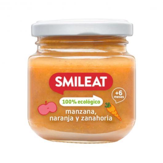 Petit pot pomme et orange + 4 mois Smileat, 230 g