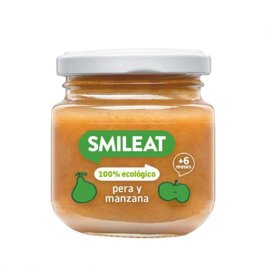 Omogeneizzato BIO pera, mela e cereali + 4 mesi Smileat, 230 g