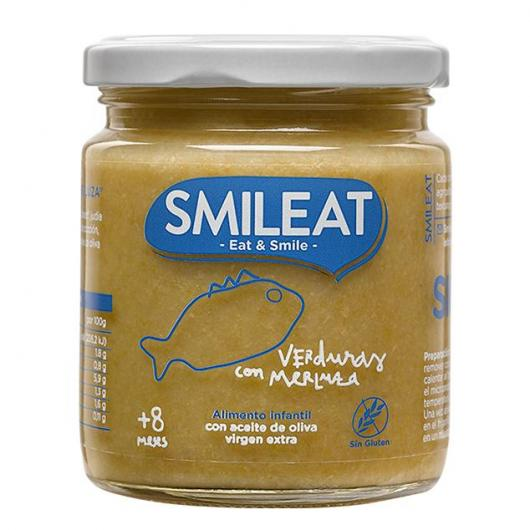 Omogeneizzato BIO verdure e nasello + 8 mesi Smileat, 230 g