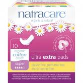 Compresas ultra extra con alas bio Natracare, 10 uds