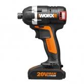 Aparafusador de impacto sem escovinhas a batería Worx WX292 20 V 2.0 Ah