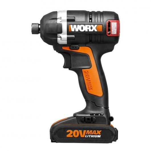 Cacciavite ad impatto senza fili a batteria Worx WX292 20 V 2.0 Ah