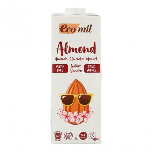 Leche de almendra sin azúcar Vainilla bio EcoMil 1L