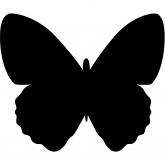 Ardoise pour mur Papillon