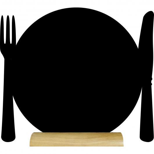 Ardoise de table Assiette
