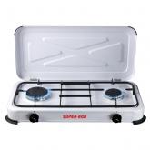Cocina camping portátil 2 fuegos Super Ego