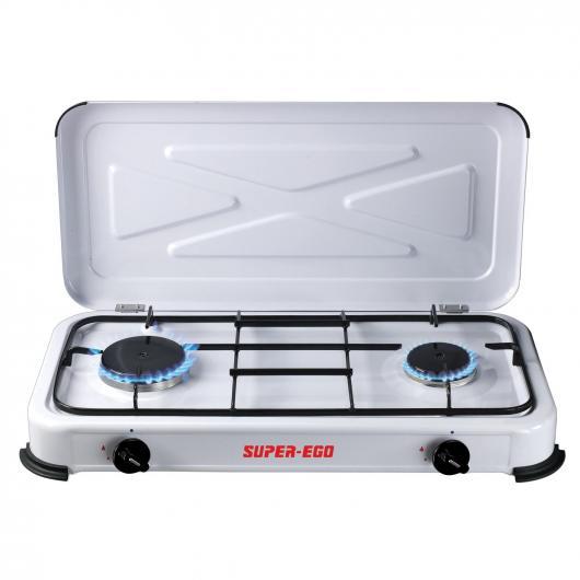 Cucina camping portatile 2 fuochi Super Ego