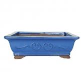 Vaso Coreia rectangular azul  26 cm