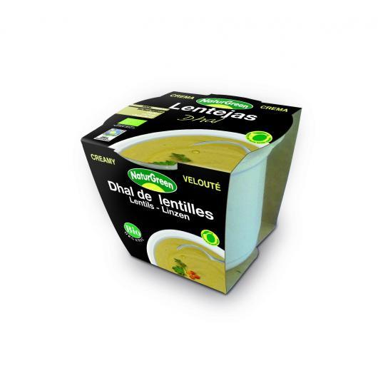 Crème de Lentilles Dhal Naturgreen, 310 g