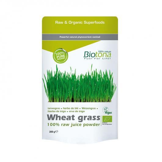Wheat grass Erba di grano in polvere  BIO Biotona, 200 g