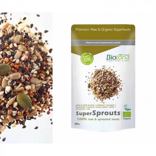SuperSprouts semillas BIO Biotona, 300 g