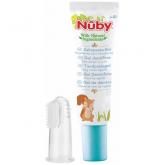 Pâte Dentifrice pour Bébé Nuby Citroganix 20g + Doigt de Massage