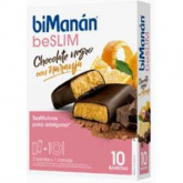 Barres Substitutives Saveur Chocolat Noir-Orange biManán, 8 Barres