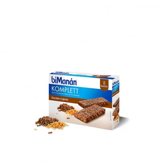Barrita sustitutiva sabor Chocolate komplett biManán, 8 barritas