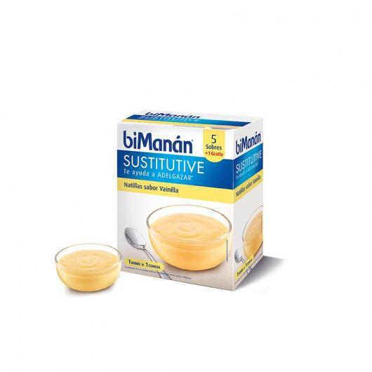 Crème Renversée Saveur Vanille biManán, 5 sachets