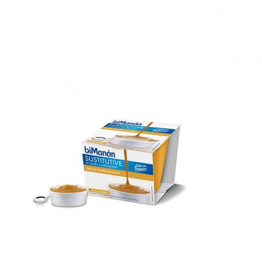 Bicchiere di vaniglia e caramello sostitutive biManán, 210 g