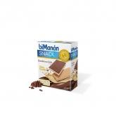 Snack wafer saziante cioccolato al latte sapore vaniglia biManán 120 g