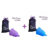MeLuna Pack with Classic menstrual cup with ball stem Size L