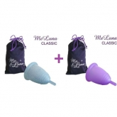 MeLuna Pack with Classic menstrual cup with stem Size M