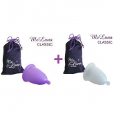 MeLuna Pack with Classic menstrual cup with ball stem Size S