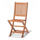 Confezione da 2 sedie pieghevoli senza braccioli Combinable oval