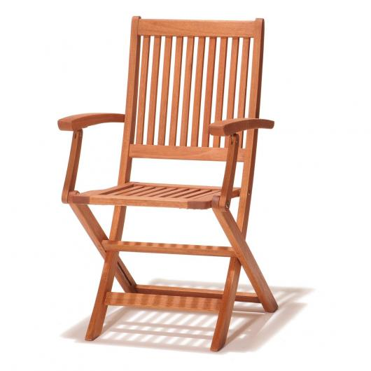 Pack de 2 sillas plegables con brazos Combinable Oval