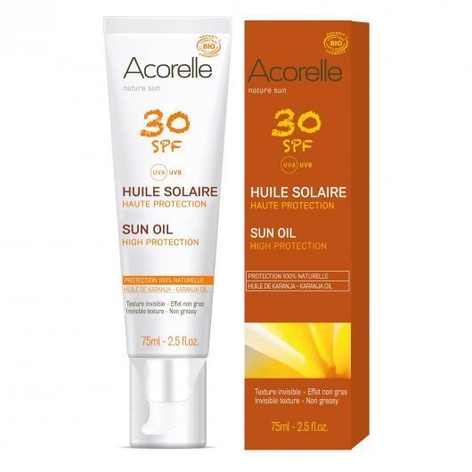 Huile Solaire SPF30 Acorelle 75 ml