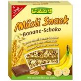 Barre Muesli Chocolat et Banane Rapunzel, 4 unités x 29 g