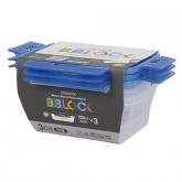 Set di tre contenitori per pranzo BB Lock Komax