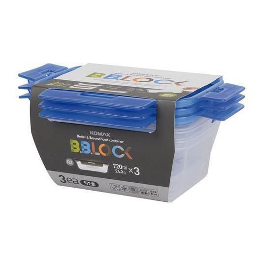 Kit de Trois Tupperware Hermétiques BB Lock Komax