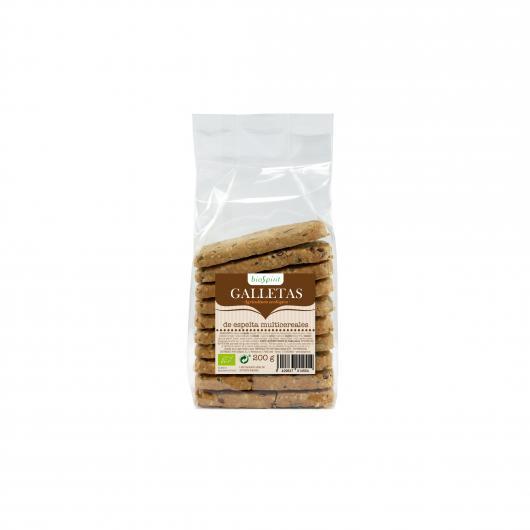 Biscuit d'Epeautre Multi Céréales Bio Biospirit 200 g