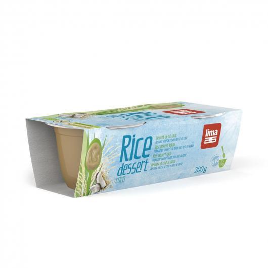 Dolce bio di riso con cocco di moka Lima 2 uds x 100 g