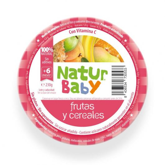 Frullato di frutta e cereali bio Naturbaby 130 g