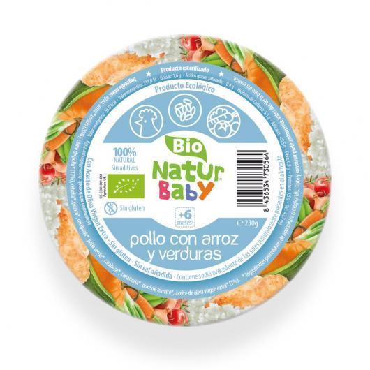 Puré de Pollo con Arroz y Verduras bio Naturbaby 230 g