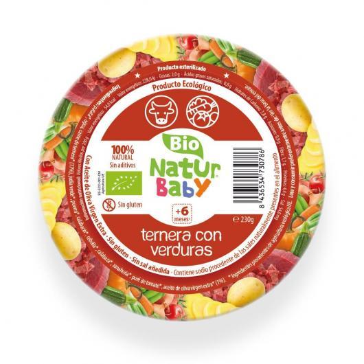 Puré de Ternera con Verduras bio Naturbaby 230 g