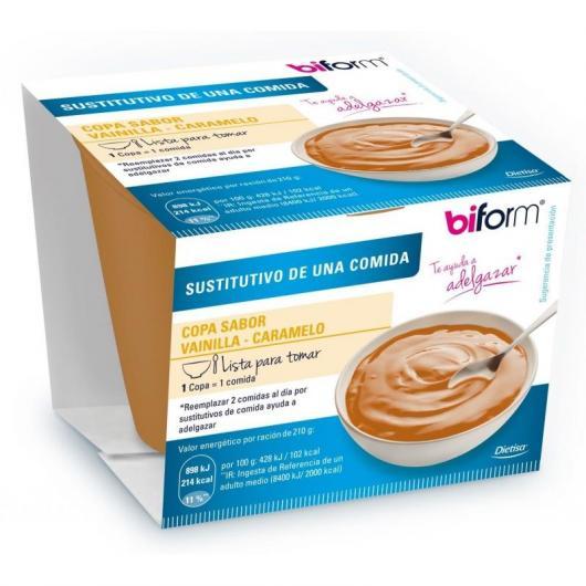 Pot de Crème Substitutive Saveur Vanille et Caramel Biform, 210 g