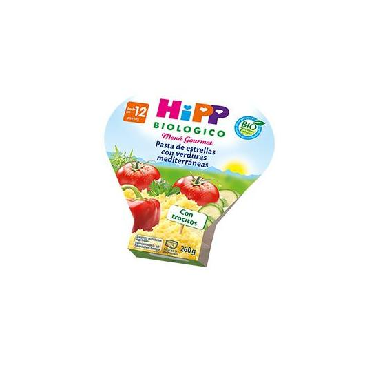 Pâtes Étoile avec Légumes Méditéranéens HiPP, 260 g