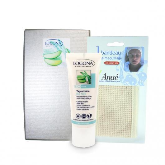 Coffret soins visage à l'aloe bio Logona