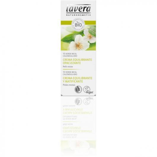 Crema equilibrante e opacizzante- Con te verde, pelli miste Lavera 50 ml