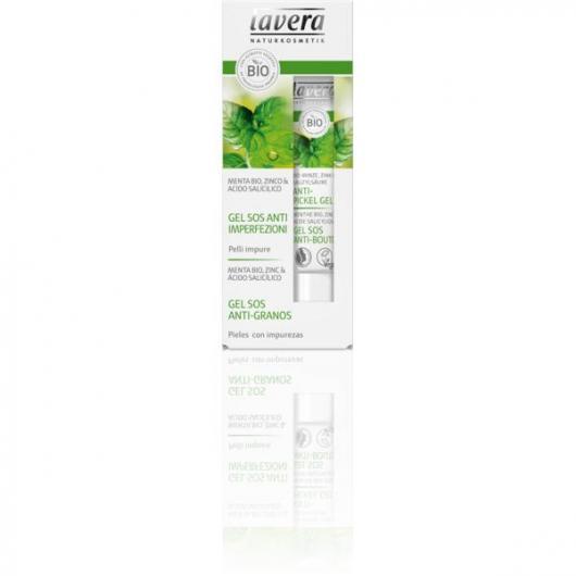Gel SOS anti-acné, menta bio, zinc y ácido salicílico Lavera 15 ml