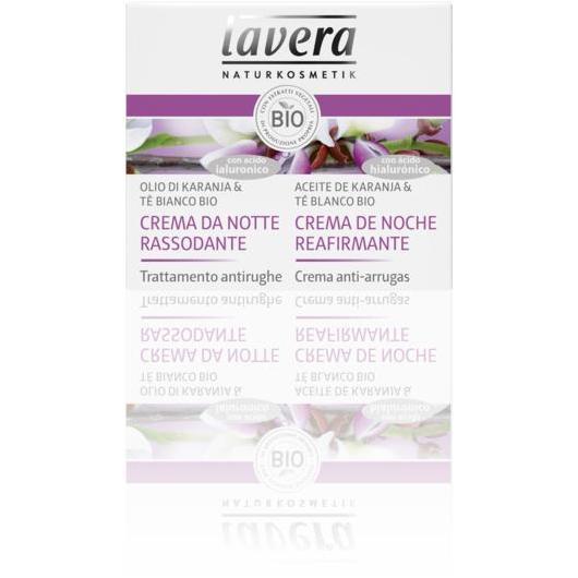 Crema reafirmante noche con aceite de karanja y te blanco Lavera 50 ml