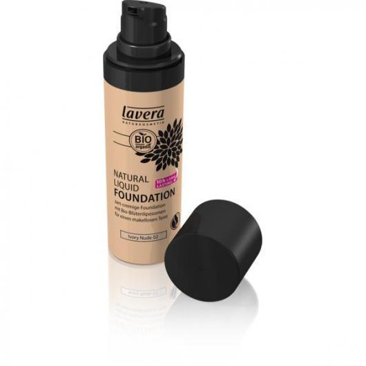 Fond de Teint Fluide Naturel - Ivory Nude 0- Lavera 30 ml