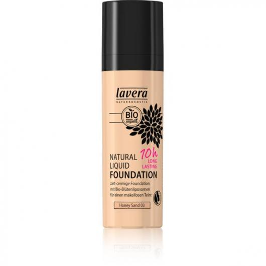 Maquillaje fluido natural - Honey Sand 03 Lavera 30 ml