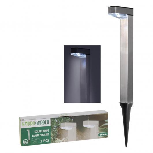 Set de 2 lámparas en aluminio