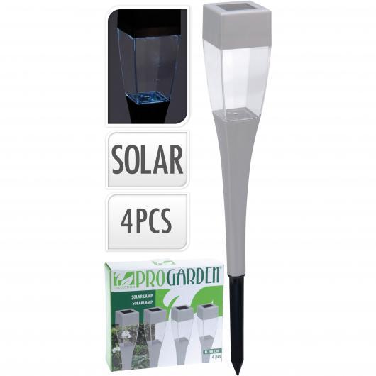 Set de 4 lamparas led solar