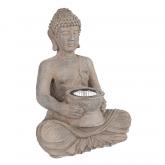 Buddha LED solare imitazione pietra