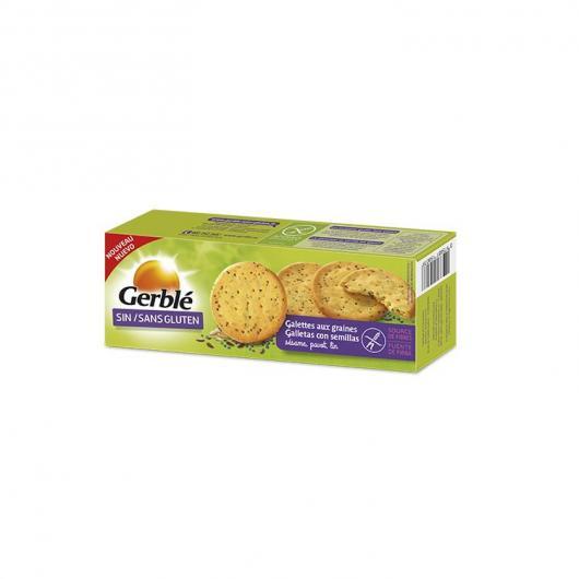 Biscuit Sans Gluten avec Grains de Sésame, Pavot et Lin Gerblé , 120 g