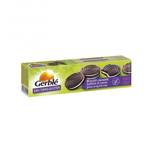 Biscuits de Cacao Fourrés de Vanille Sans Gluten Gerblé, 125 g