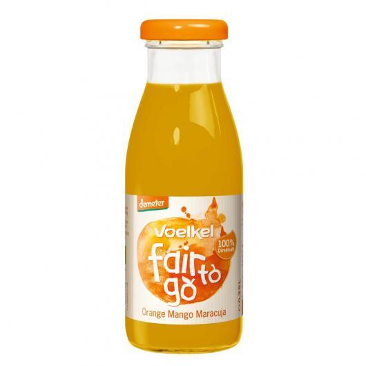 Zumo de naranja, mango y fruta de la pasión 250 ml bio Voelkel