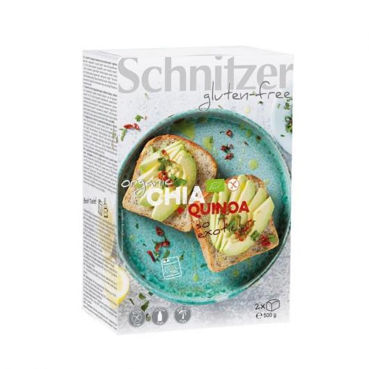 Pan de chia y harina de quinua sin gluten Schnitzer 500 g bio